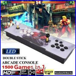 1500 in 1 Pandora's Box 9 Double Stick Arcade Retro Video Games Console LED UK