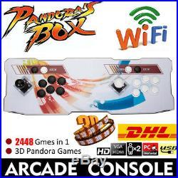 2448 Classic Games Pandora's Box Retro 3D HD WIFI Video Arcade Console UK Plug