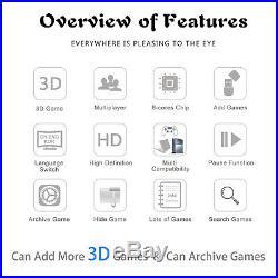 2650 Games Pandora Treasure II 3D Arcade Console Machine Retro Video Game Mario
