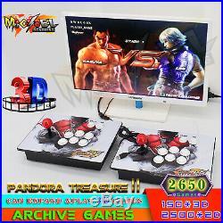 2650 Games Pandora Treasure II 3D Retro Video Game Arcade Console Separable HDMI