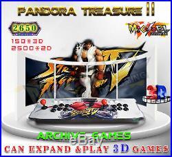 2650 Games Pandora's II 3D Double Stick Arcade Console Machine Retro Game HDMI