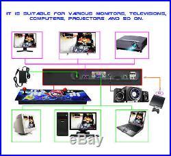 2650 Retro Video Game Arcade Console HDMI Pandora Treasure II 3D Double Stick