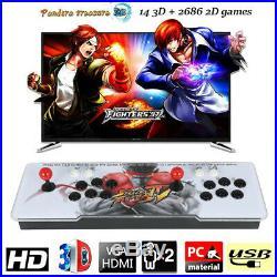2700 in 1 Pandora Box 9D Retro Video Games Double Stick Arcade Console Light