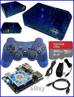 400GB ODROID-XU4 Game Console (Blue) For Retro Game Emulation + Games & More