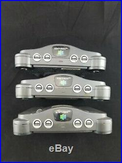 6 Nintendo 64 systems N64 Video Game bare Console Retro Rare Tested Bundle Lot