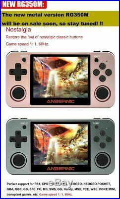 ANBERNIC RG350M 3.5 inch IPS Screen 64Bit DDR2 512M 16GB 3000+ Games Retro Handh