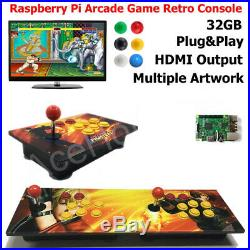 Arcade Game Retro Console Wooden Artwork Panel Raspberry Pi