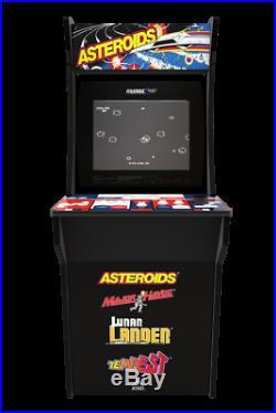 Asteroids Arcade 1up Classic Retro Cabinet Machine Arcade1up 4 In 1 Video Games