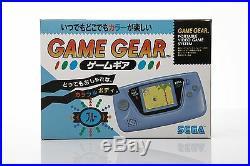 Brand New Sega Game Gear Console HGG-3211 Tested Japan Retro Blue NIB MINT gg