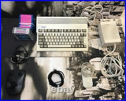 Commodore Amiga A600 Retro Gaming PC Console Boxed Discs, Mouse Joystick