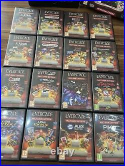EVERCADE RETRO HANDHELD CONSOLE With All 16 Game Cartridges By Blaze