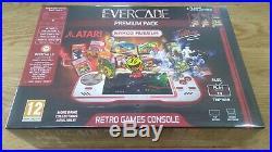 Evercade Retro Games Console Premium Pack + Case + 7 Cartridges New In Box Atari