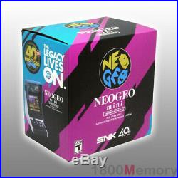 GENUINE SNK Neo Geo Mini International Neogeo Game Console Retro with 40 Games