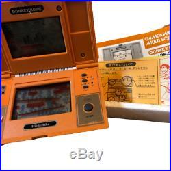 Game & Watch DONKEY KONG Multi Screen DK-52 NINTENDO Orange Game Console Retro