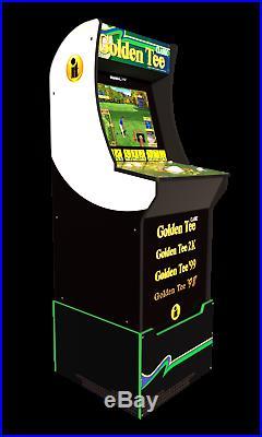 Golden Tee Retro Golf Video Game Arcade 1 UP Machine with Riser Arcade1UP Cabinet