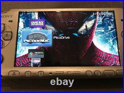 Huge Sony Psp 3003 Mystic Silver Bundle, Boxed, 37 Games Plus 1600+ Retro Games