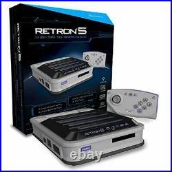 Hyperkin Retron 5 Retro Video Gaming System 5 In 1 Console Video Game Systems