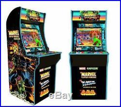 Marvel Superheroes Retro Arcade 1UP Machine Arcade1UP /Riser Video Game Cabinet