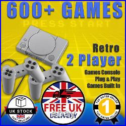 Mini Retro Games Console Playstation 600+ Built-In Games PS1 Style UK