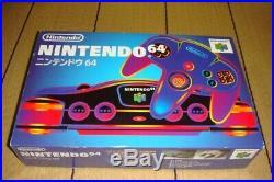 NEW Nintendo 64 Console Black Original console in 1996 Japan model Retro Game