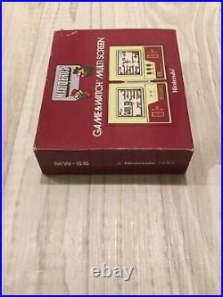 NINTENDO GAME AND WATCH Mario Bros MW-56 1983 Retro Games Console