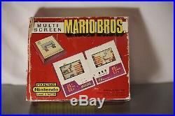 NINTENDO GAME & WATCH POCKETSIZE MARIO BROS. NOA 1983 RETRO Video Game WORKS
