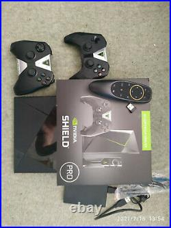 NVIDIA Shield 500GB Android TV + 1TB Hyperspin Retro Game Drive, 2 controllers