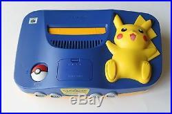 Nintendo 64 N64 Authentic Pokemon Pikachu Game Console System Rare Retro Kid Lot