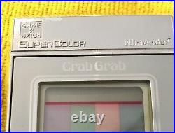 Nintendo Crab Grab Game & watch Rare retro Console