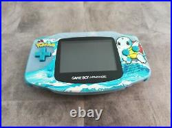Nintendo Game Boy Advance IPS remise à neuf rétro-moddé boîte et jeu pokémon