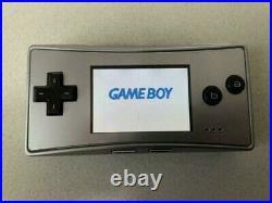 Nintendo GameBoy Micro Silver Japan retro video game console Handheld FedEx