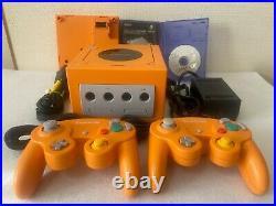 Nintendo Gamecube Orange Japan retro game console controllers Game Boy Player
