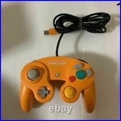 Nintendo Gamecube Orange Japan retro video game console with Box & Controller