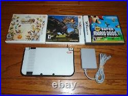 Nintendo New 3DS XL with Retro Skin (READ) and 3 of the best games FF Mario MH