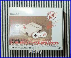 Nintendo New Famicom NES Japan retro video game console AC adopter AV cable Box