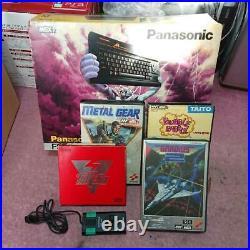 Panasonic MSX2 FS-A1 4 software Used retro Vintage game DHL