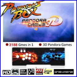 Pandora's Box 3188 in 1 Games 4Players Retro Arcade Console HD USB For TV Laptop