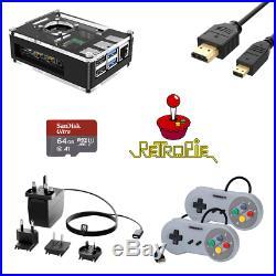 Retro Arcade Games Console Raspberry Pi 4B 30+ Systems & 10,000+ Games