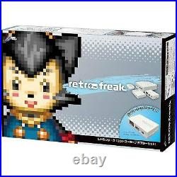 Retro Freak Premium Game Console withController Adapter Set Japan CY-RF-B F/S New