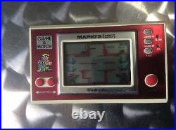 Retro Nintendo Game & Watch Marios Cement Factory Game Console Mint/Clean Cond