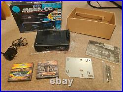Retro Sega Mega Cd 1 (Mk1) Boxed with manual and games bundle tested working