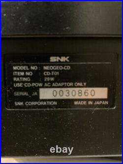 SNK NEO GEO CD Console CD-T01 Japanese Version Used Tested working Retro game