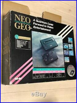 SNK Neo Geo AES Neogeo Japan Retro Console Boxed Gaming Arcade System Tested OK