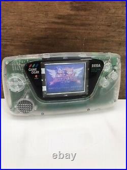 Sega Gamegear Custom Clear Handheld Gaming Console Game Gear Retro Vintage Sonic