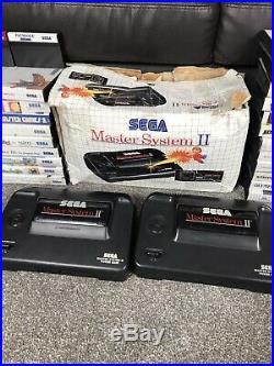 Sega Master System Consoles Boxed And 59 Games Huge Bundle Joblot Retro Rare Uk