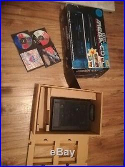 Sega Mega-cd Retro Gaming Console With Games Boxed Sol-feace Cobra Command drive