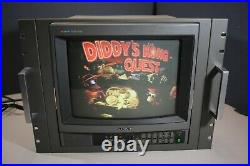 Sony PVM-1341 Trinitron Color Video Monitor RETRO AUDIO GAMING Tested Working