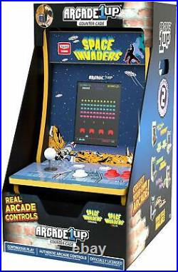 Space Invaders Arcade1UP Countercade Tabletop Design Retro Home Gaming Cabinet