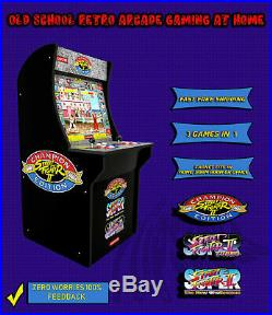 Street Fighter 2 Arcade1Up Retro Classic Home Cabinet Machine 4ft 3 In 1 Games
