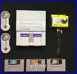 Super Nintendo Original Console Retro SNES System + Game Choice Mario / Donkey